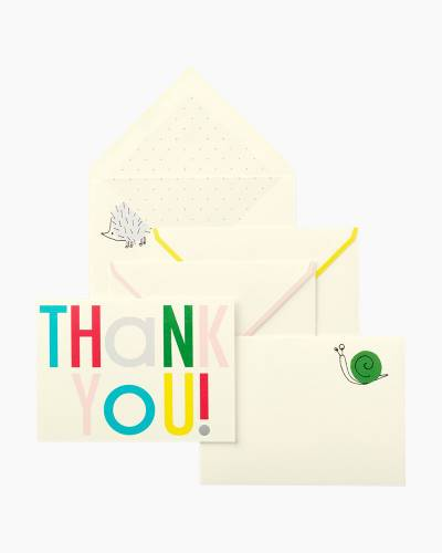 Hey Baby Thank You Cards Set