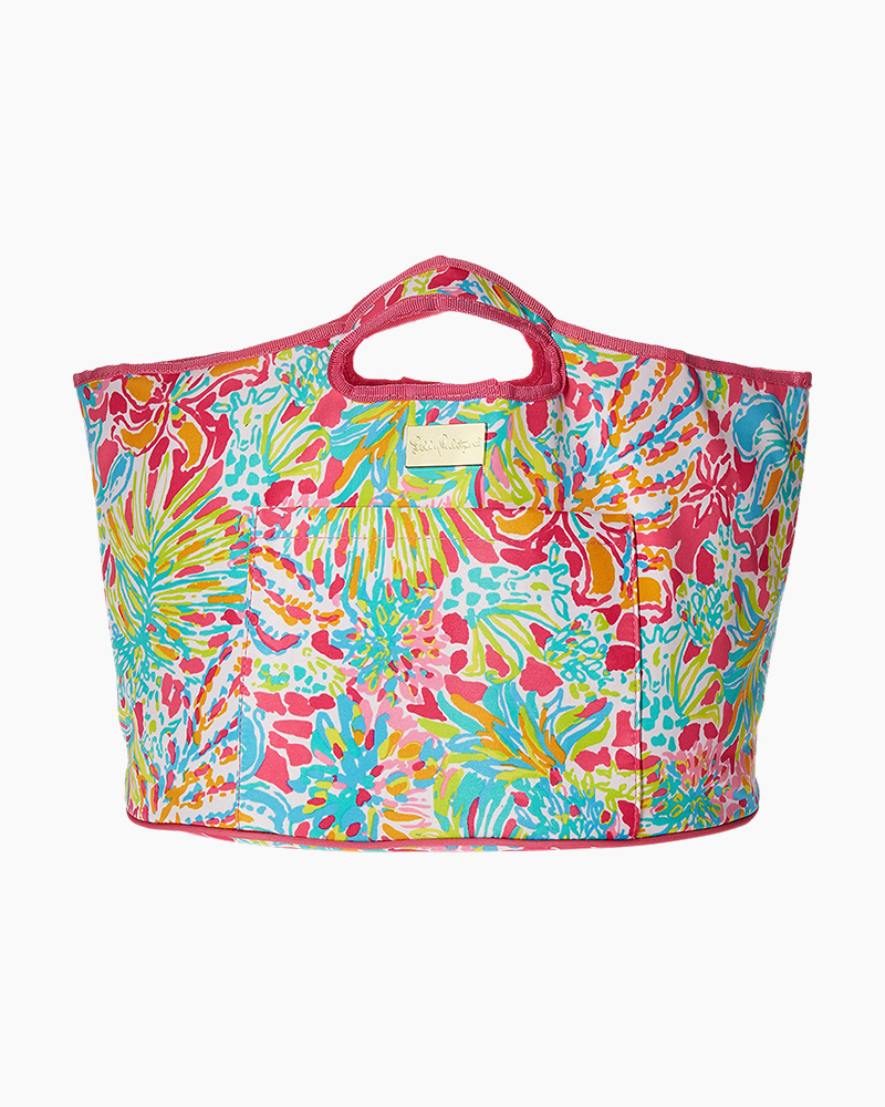 08a8fcab14 Lilly Pulitzer Beverage Bucket Picnic Tote in Spot Ya