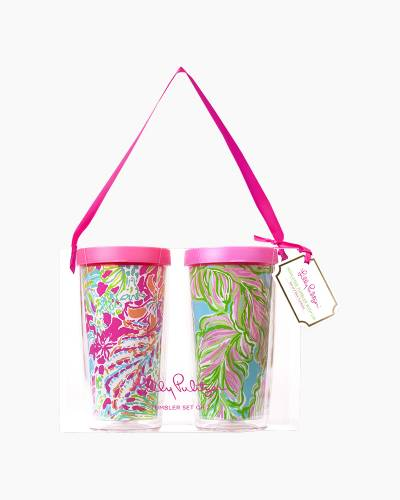 Spot Ya and In the Bungalows Insulated Tumbler with Lid Set