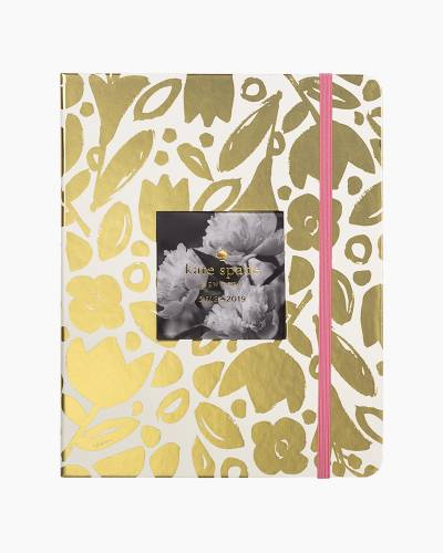 2018-2019 Large Agenda in Gold Floral