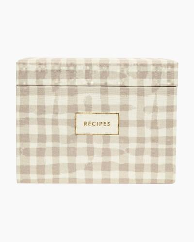 Gingham Recipe Box