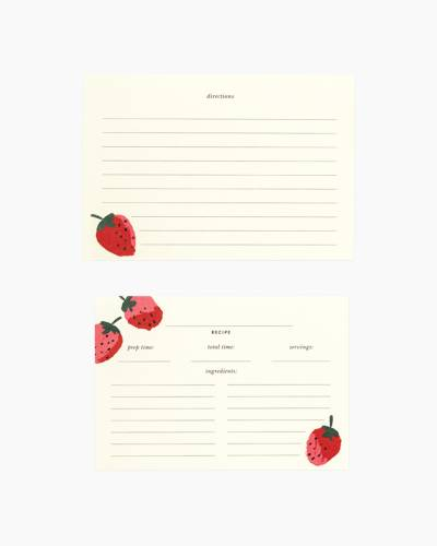Strawberries Recipe Cards