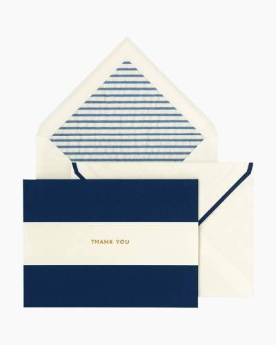 Navy Stripe Thank You Notes