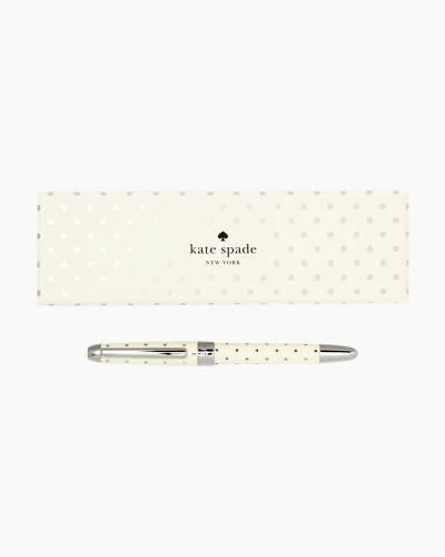 Silver Dot Ballpoint Pen