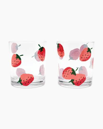Strawberries Acrylic Glasses Set