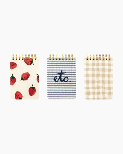 Strawberries Spiral Notebad Set