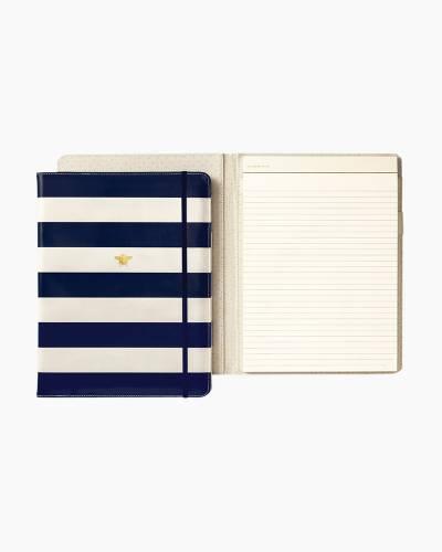 Navy Stripe Notepad Folio