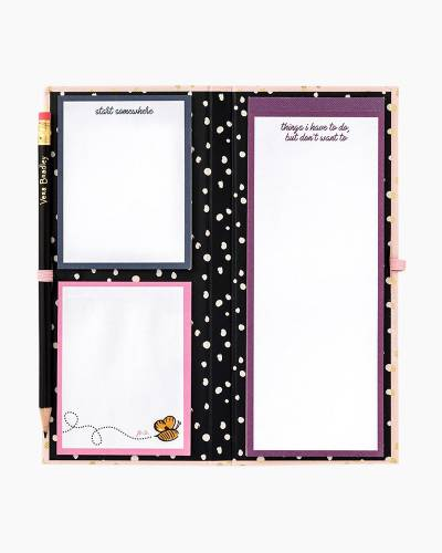 Sticky Note Pad Slim Book in Blush Gold Dots
