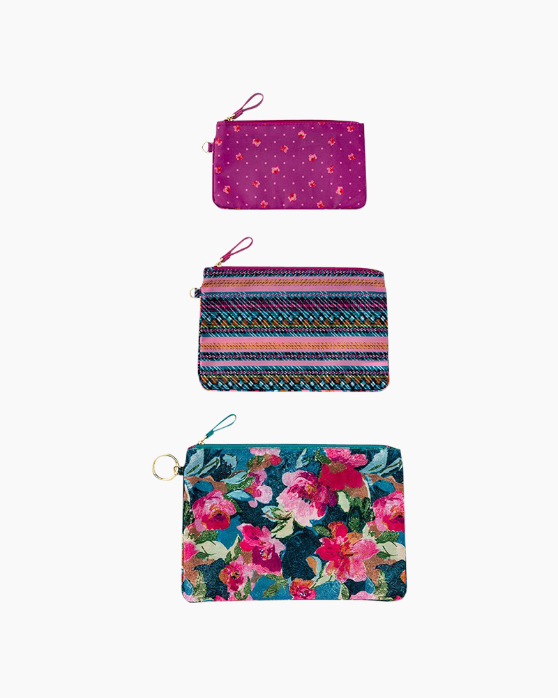Vera Bradley Pencil Pouch Trio in Superbloom Medley   The Paper Store 00597269b0