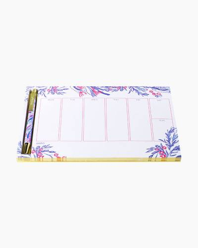 Aquadesiac Weekly Desk Pad and Pen