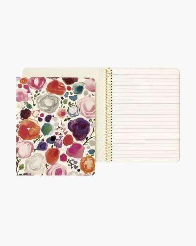 Floral Concealed Spiral Notebook