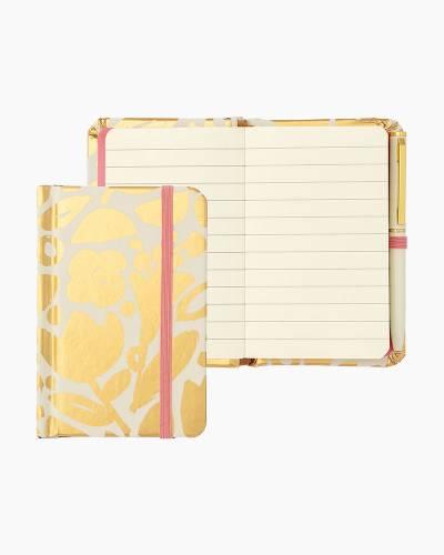 Golden Floral Mini Notebook