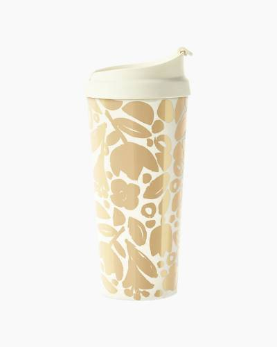 Thermal Mug in Golden Floral