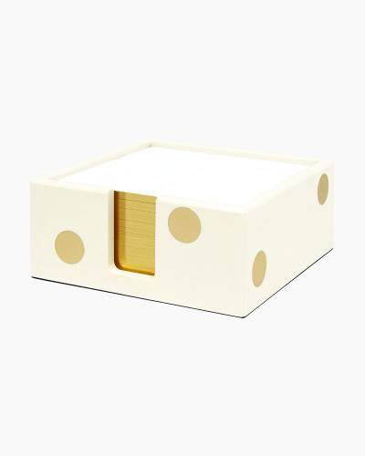 Gold Dot Acrylic Note Holder