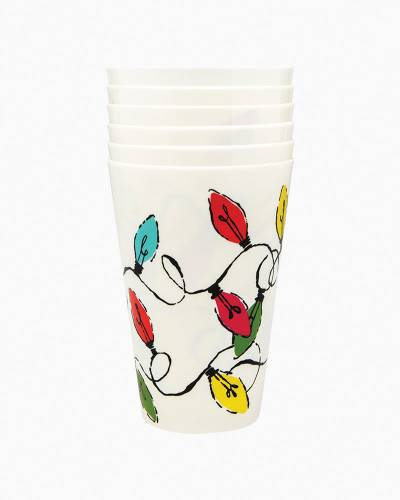 Holiday Lights Party Cup Set