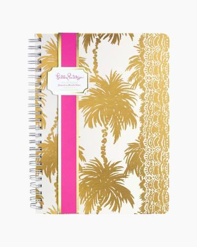 Mini Notebook in Metallic Palms