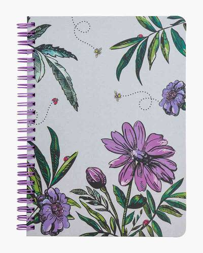 Lavender Meadow Mini Notebook with Pocket