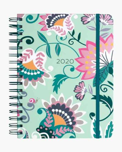 Mint Flowers Large 17 Month Planner