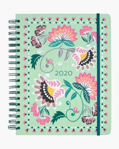 Mint Flowers Jumbo 17 Month Planner