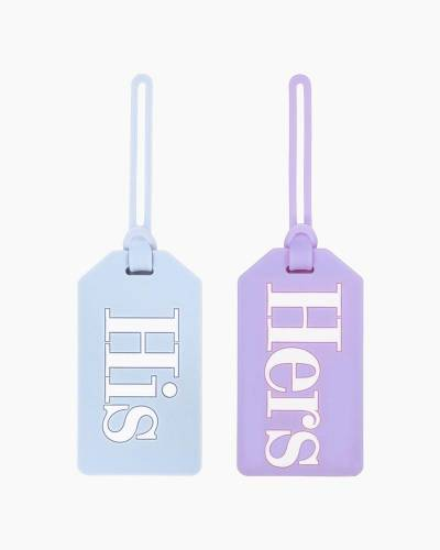His and Hers Luggage Tag Set