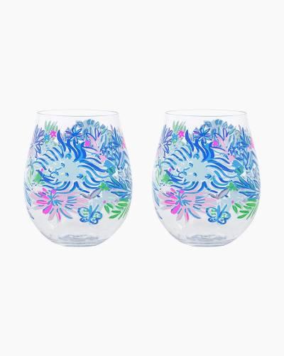 Lion Around Acrylic Wine Glass Set
