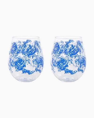 Turtley Awesome Acrylic Wine Glass Set