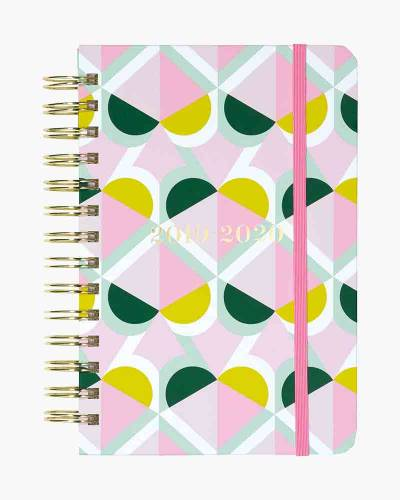 Medium Spiral 17 Month Planner in Spade Geo