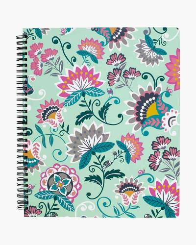 Mint Flowers Notebook with Pocket
