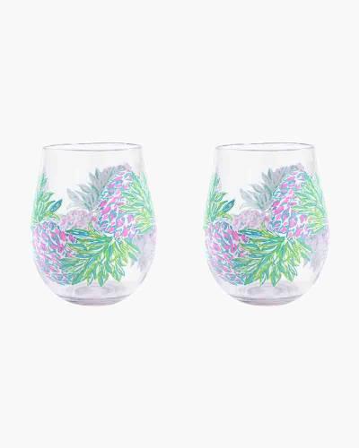 Swizzle Out Acrylic Wine Glass Set