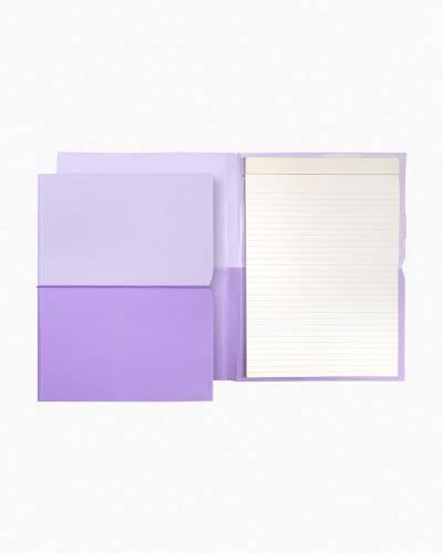 Lilac Plunge Notepad Folio