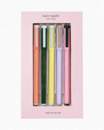 Colorblock Fine Tip Pen Set (5-Pack)