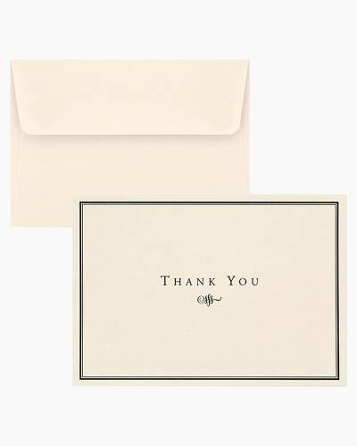 Thank You Notes - Black and Cream