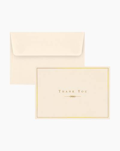 Thank You Notes - Gold and Cream