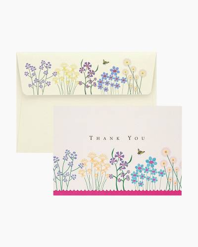 Thank You Notes - Sparkly Garden