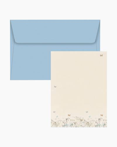 Stationery Set - Butterflies (Blue Envelopes)