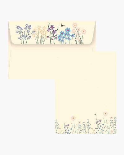 Stationery Set - Sparkly Garden