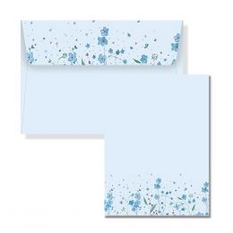 Peter Pauper Press Stationery Set - Blue Flowers
