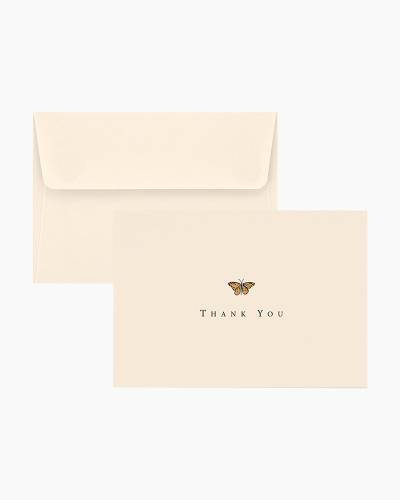 Thank You Notes - Gold Butterfly