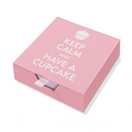 Peter Pauper Press Boxed Desk Notes - Keep Calm and Have a Cupcake