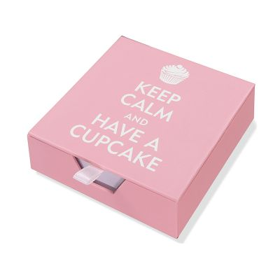 Boxed Desk Notes - Keep Calm and Have a Cupcake