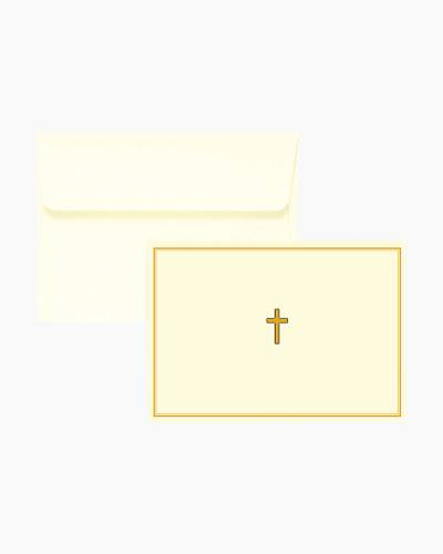 Note Cards - Gold Cross