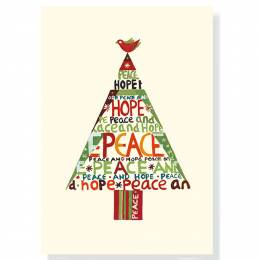 Peter Pauper Press Peace Hope Tree Boxed Small Holiday Cards