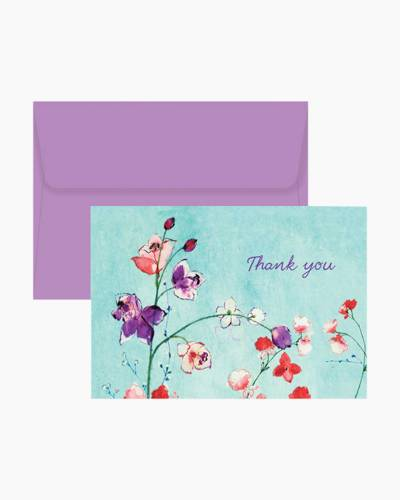 Fuchsia Blooms Boxed Thank You Notes