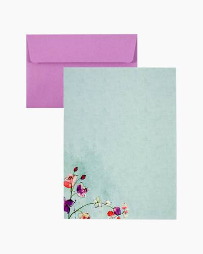 Fuchsia Blooms Stationery Set