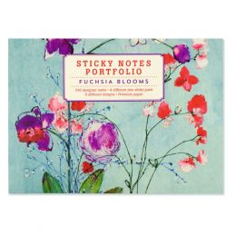 Peter Pauper Press Fuchsia Blooms Sticky Notes Portfolio