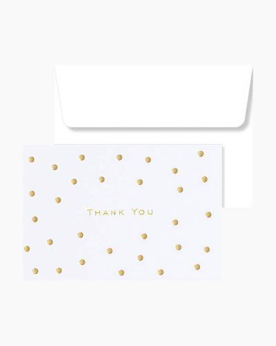 Gold Dots Thank You Notes