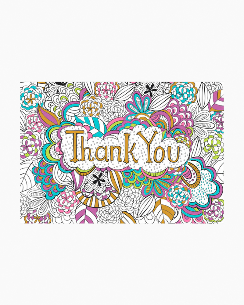 Peter Pauper Press Color Me Thank You Note Cards