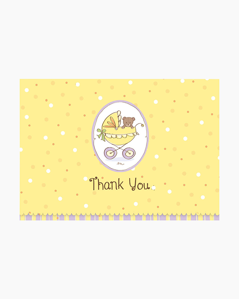 Peter Pauper Press Baby Carriage Boxed Thank You Notes
