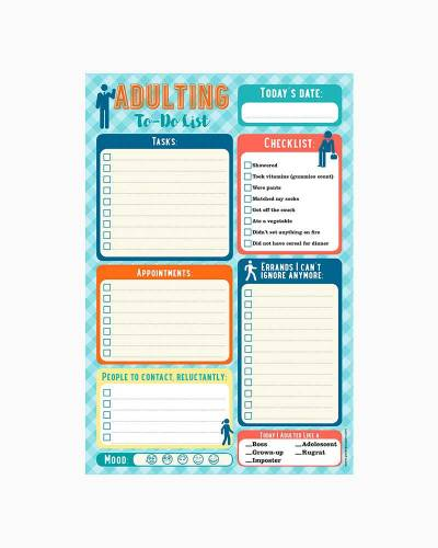 Adulting Note Pad