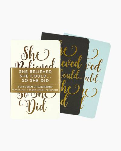 She Believed She Could Jotter Mini Notebooks (Set of 3)